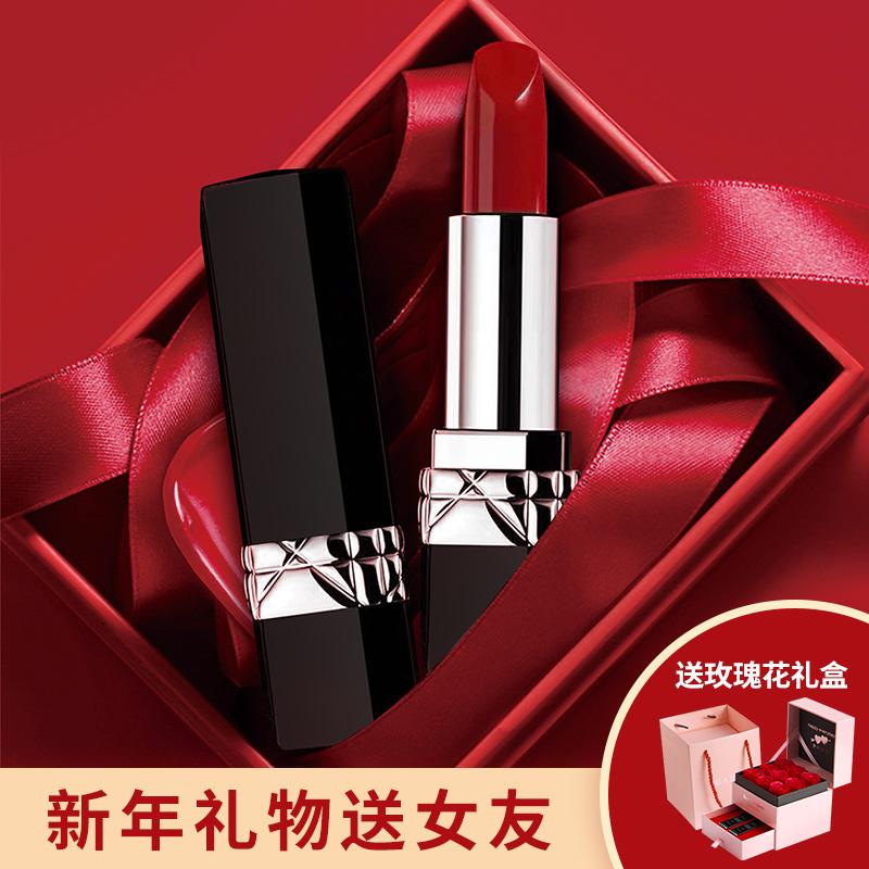 ✂☠🔥จัดส่งที่รวดเร็ว🔥ลิปสติกเนื้อแมทให้ความชุ่มชื้นและไม่เหนียวเหนอะหนะของแท้ Dior Dean Lipstick Big Brand 999 Moisturi