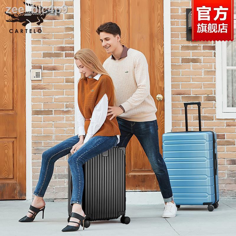 ☸◙กระเป๋าเดินทางความจุขนาดใหญ่ ชายและหญิง กระเป๋าเดินทางขนาดเล็ก 20 นิ้ว รหัสผ่าน 24 ใบ กระเป๋าเดินทางขึ้นเครื่อง กรอบอล