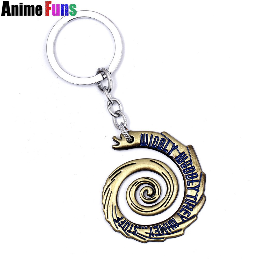 Movie Doctor Who WIBBLY WOBBLLY TIHEY WIMEY STUFF Sonic Screwdriver Keyring Gift