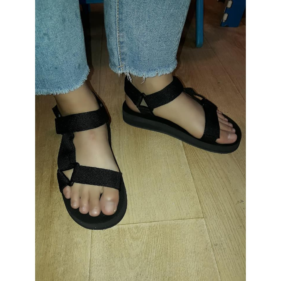 รองเท้าแตะ รองเท้ารัดส้นผู้ชาย รองเท้าชาย รองเท้าคัชชูผู้ชาย รองเท้ารัดส้น รองเท้ารัดส้น 2 แถบ สีดำ Size 36-44