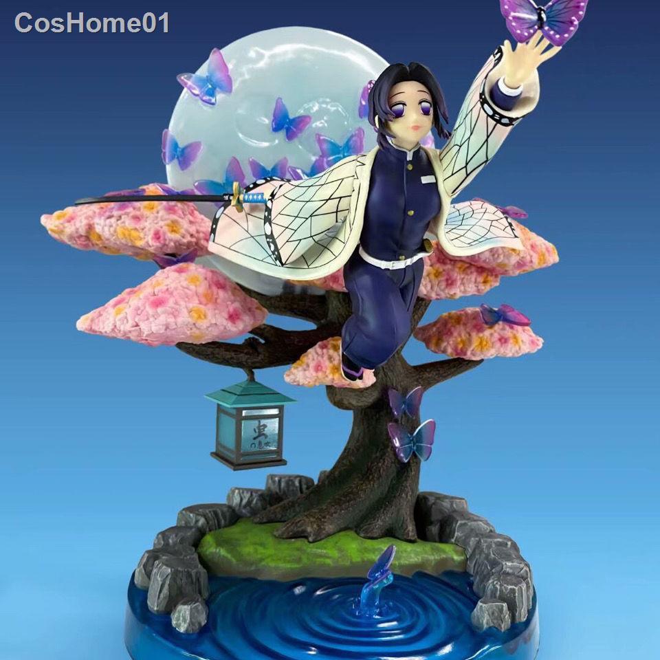 เตรียมจัดส่งรุ่นพรีเมี่ยม Demon Slayer Blade Ninja Butterfly Moon Scene Boxed Anime Model Figure