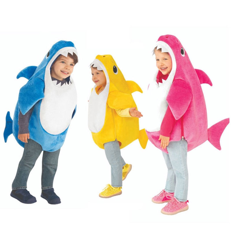 Baby Shark cosplay kid's clothes dress Halloween stage performance play costume nkP6