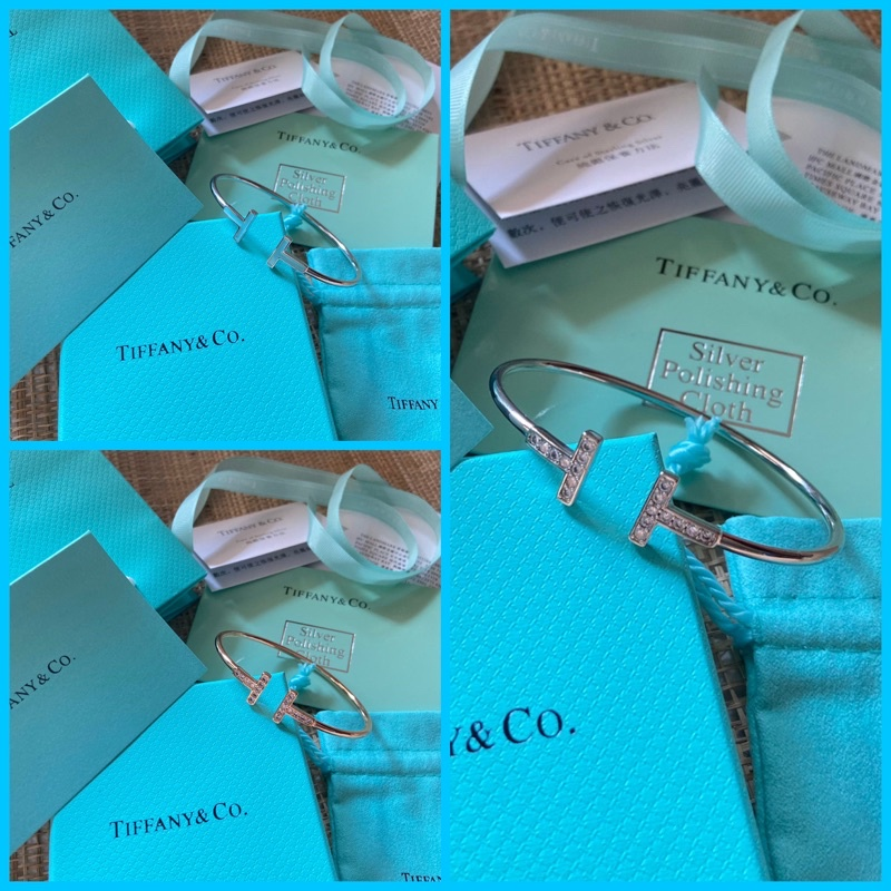 Tiffany & Co. สร้อยข้อมือกําไลข้อมือ Tiffany & Co ของแท้ 100%
