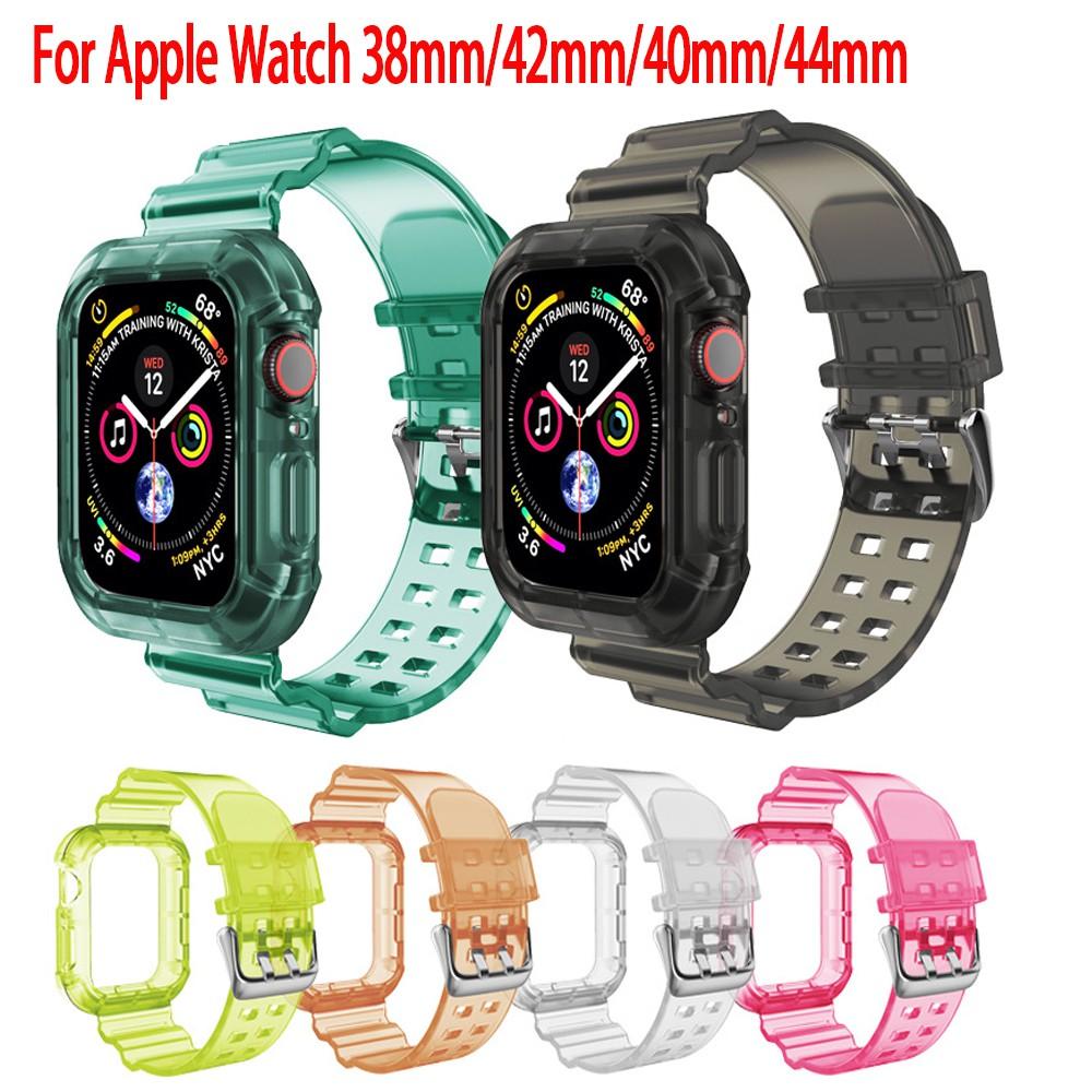 สายนาฬิกาข้อมือ สำหรับ Apple Watch Series SE 6 5 4 3 2 1 ขนาด 38 มม 40 มม 42 มม 44 มม สาย applewatch cszG