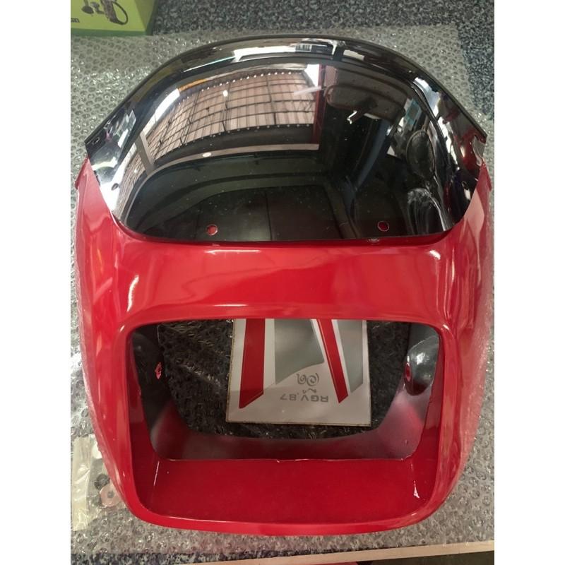 หน้ากากหน้า Suzuki RGV สีแดง พร้อมชิลด์หน้า อะไหล่เทียบ