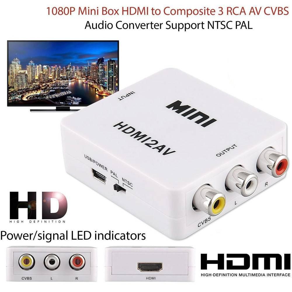 Mini 1080 P HDMI to AV / CVSB Composite Video Converter Adapter HDMI Interface