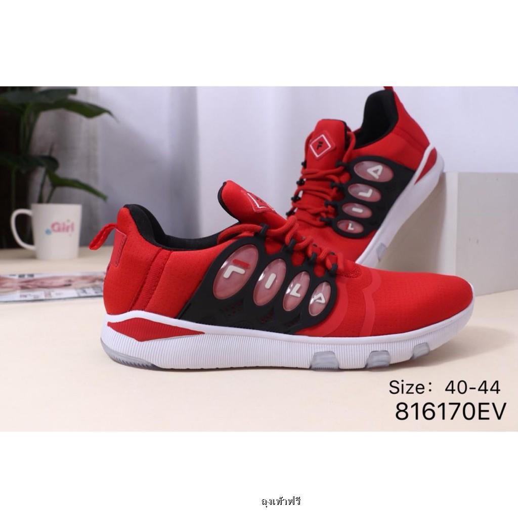 FILA FHT TT-COURT DELUXE รองเท้าวิ่งระบายอากาศสบาย ๆ  รองเท้าวิ่งเบาะลม  รองเท้าวิ่ง รองเท้าผู้ชาย