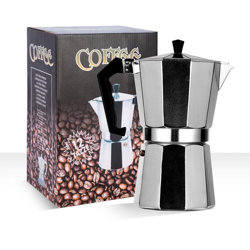 Moka Potหม้อกาแฟ หม้อต้มกาแฟสด เครื่องชงกาแฟเอสเพรสโซ่ มอคค่า กาต้มกาแฟสด เครื่องชงกาแฟสด เครื่องทำกาแฟ