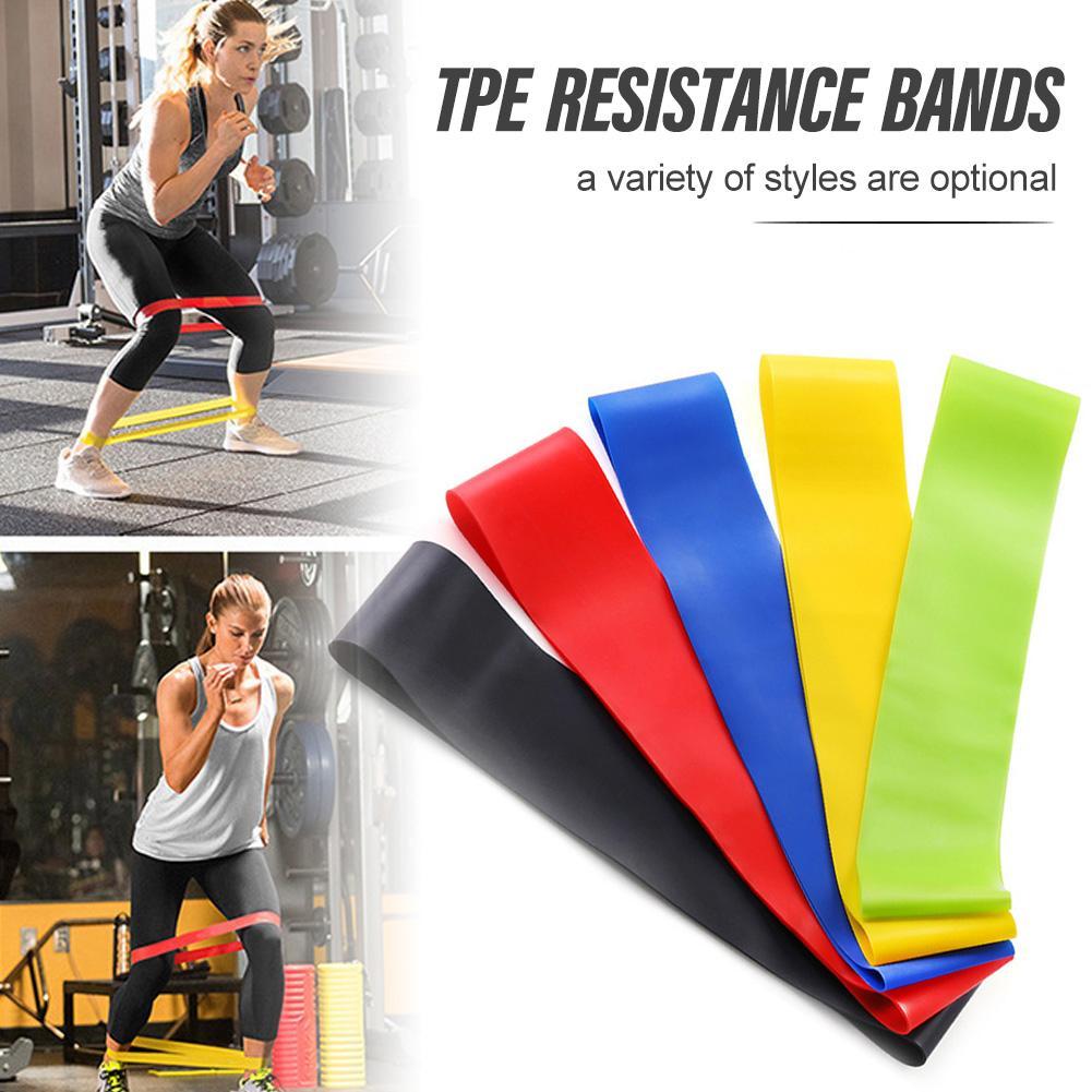 BG ความต้านทานโยคะ 5 ระดับยางยืดยิมฟิตเนสการฝึกความแข็งแรงห่วงยางวงออกกำลังกายอุปกรณ์ออกกำลังกายที่บ้าน