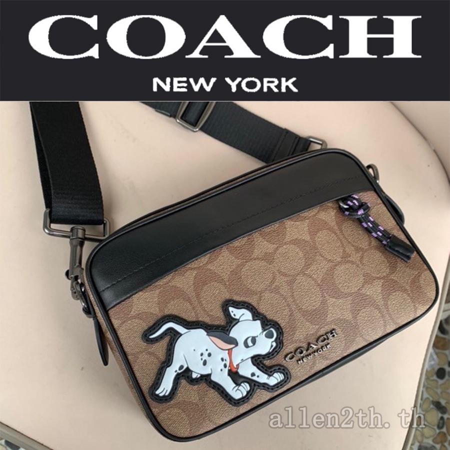 กระเป๋าสะพายไหล่ Coach แท้ F91498 กระเป๋าสะพายข้างผู้ชาย / crossbody bag / กระเป๋ากล้อง