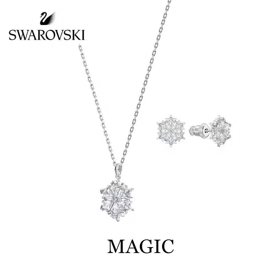 Swarovski MAGIC  สวารอฟส ของแท้ 100%สร้อยคอจี้ไล่ระดับราชินีหงส์น้อย  ส่งของขวัญให้แฟนสร้อย