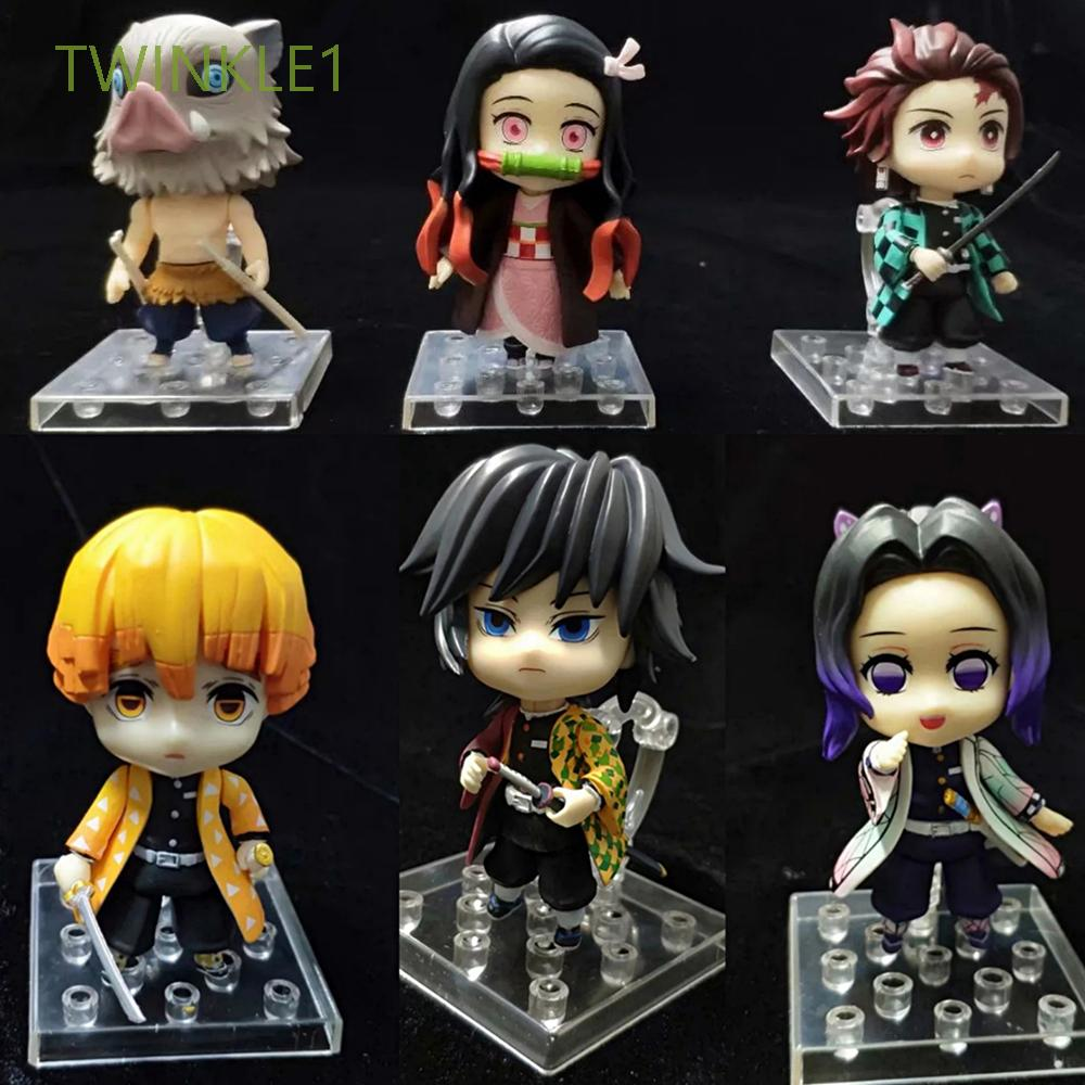 PVC Anime Demon Slayer Demon Blade Toy Figures Action Figure Toys Shinobu Agatsuma Collection Doll Doll Ornaments Kimetsu no Yaiba Kochou Figurine Model