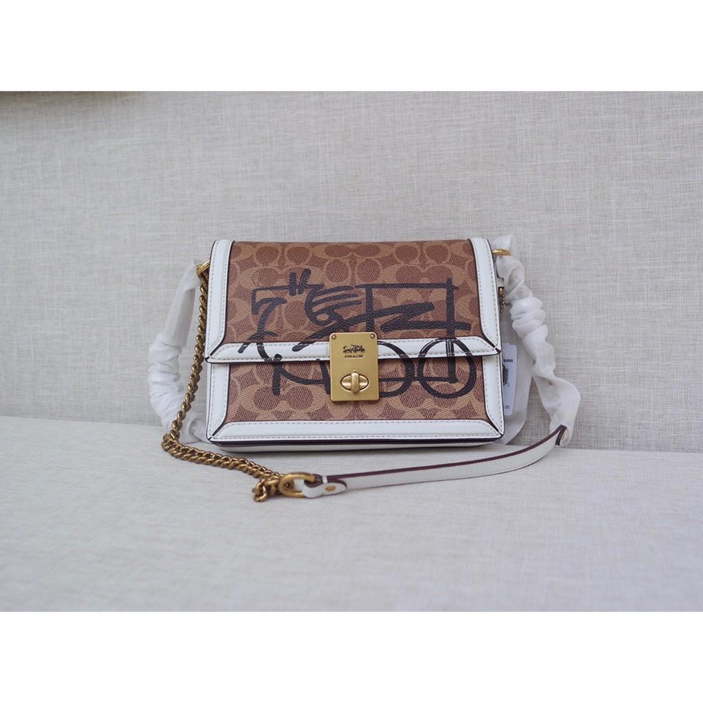 [Coach Flagship Pavilion] COACH 5461 Hutton Hutton Bag Chain Bag กระเป๋าสะพายข้าง American Shopping