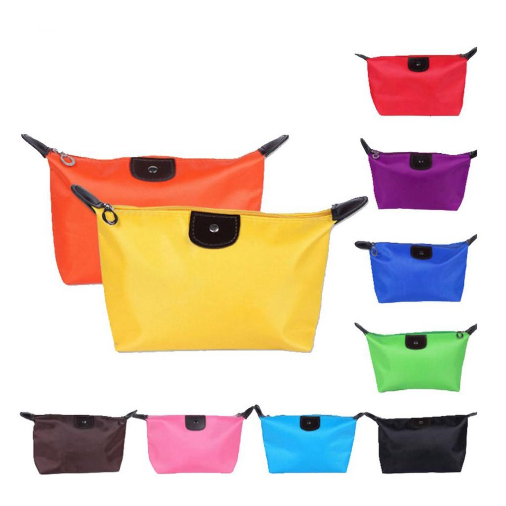 LAMUSELAND กระเป๋าใบเล็ก กระเป๋าใส่เครื่องสำอาง กันน้ำ สีสันสดใส เดินทาง มีซิป กระเป๋าแต่งหน้า MB01