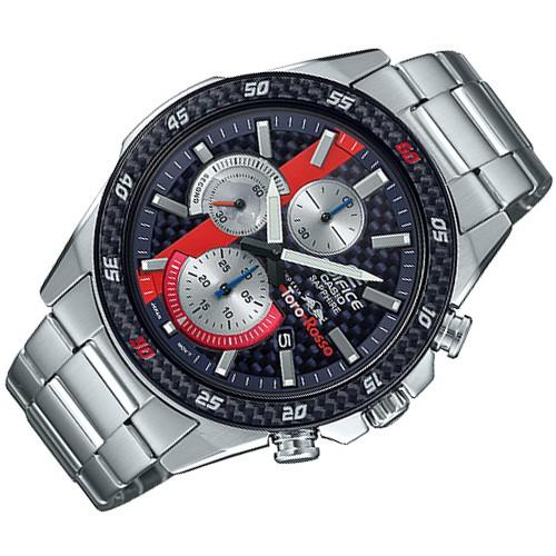 แท้ศูนย์ Casio Edifice นาฬิกาข้อมือผู้ชาย สายสแตนเลส รุ่น EFR-S567TR EFR-S567TR-2ADR - สีเงิน