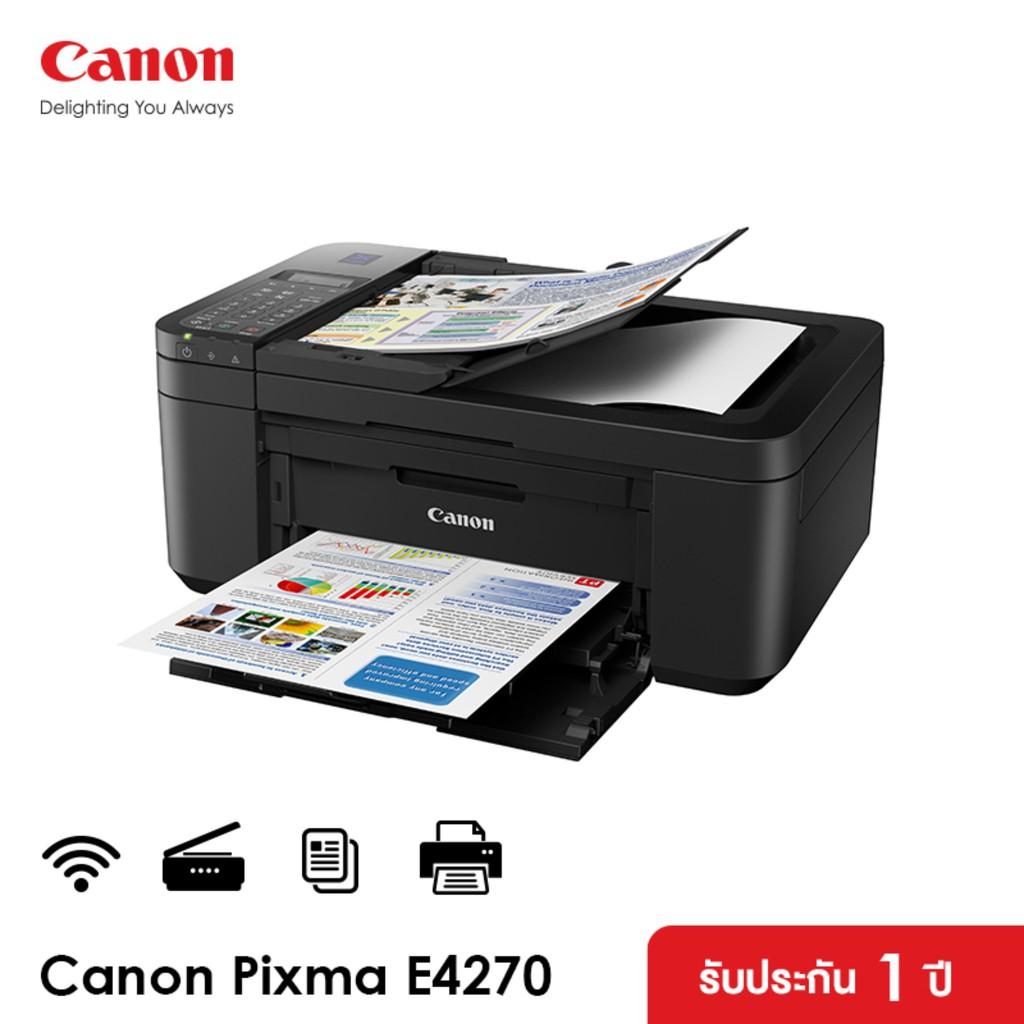 Canon เครื่องพิมพ์อิงค์เจ็ท PIXMA รุ่น E4270 (ปริ้นเตอร์ เครื่องปริ้น พิมพ์ สแกน ถ่ายเอกสาร)