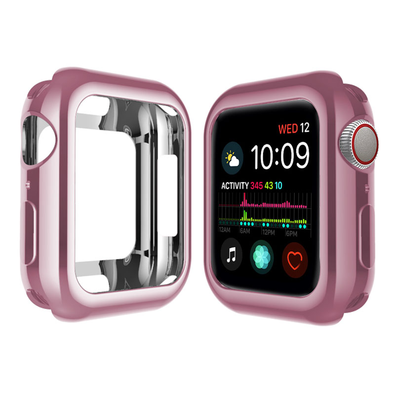 Soft Case Apple Watch 38mm 40mm 42mm 44mm Cover Series 5 4 3 2 iWatch 38 40 42 44 mm Electroplating TPU Protect Case