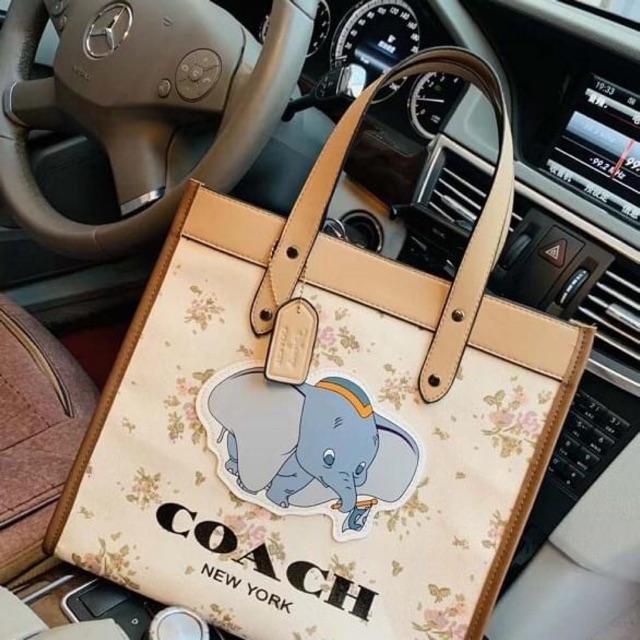 กระเป๋าช็อปปิ้ง  coach ผ้าแคนวาส 📌พร้อมส่ง