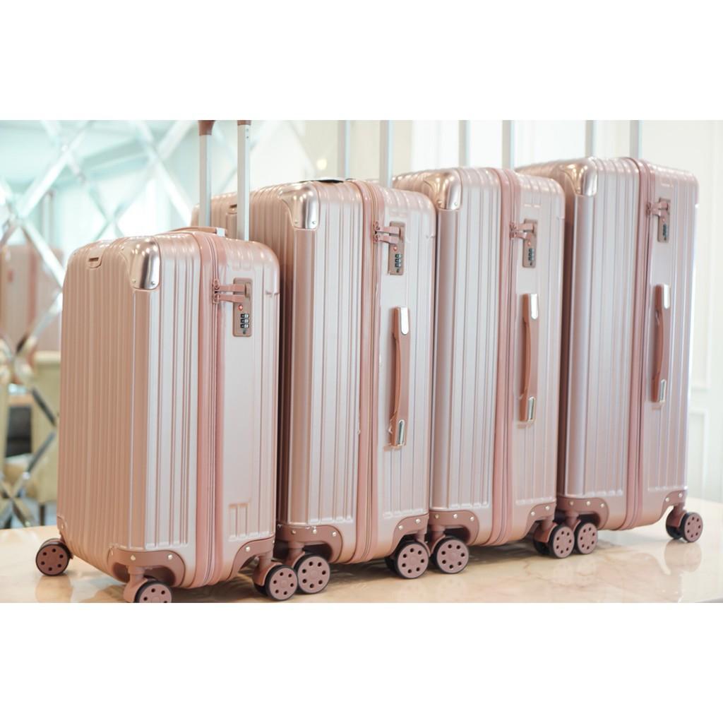 """""""ส่งฟรี KERRY"""" Classy Luggage กระเป๋าเดินทาง20/24/26/28นิ้ว รุ่นซิป วัสดุABS+PCแข็งแรงทนทาน"""