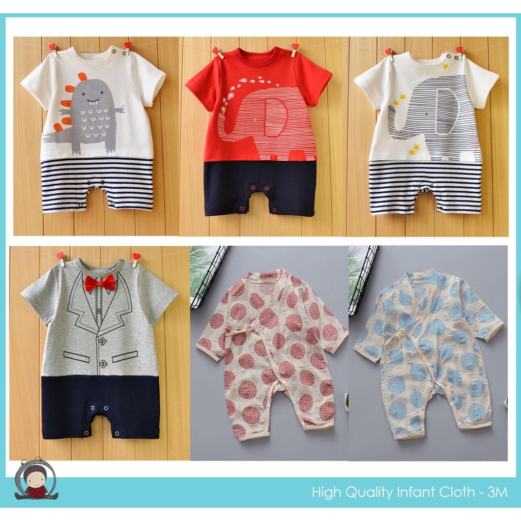 D03-583 - 588 Babybug บอดี้สูท ชุดเด็กอ่อน เสื้อผ้าทารก งานสวยแบรนด์นอก ชุด jumpsuit ขนาด 0-3 เดือน - แบบแขนสั้นขาสั้น