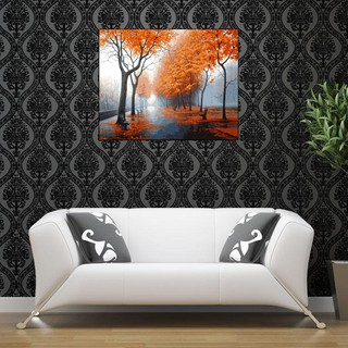 Family Love Quote Art Picture Brown Cream Home Canvas Wall Print 112 cm