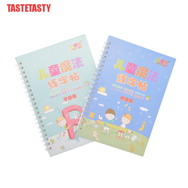 TASTETASTY 2Books Learning Numbers In English Magic Practice Copybook Baby Copybook For Kid