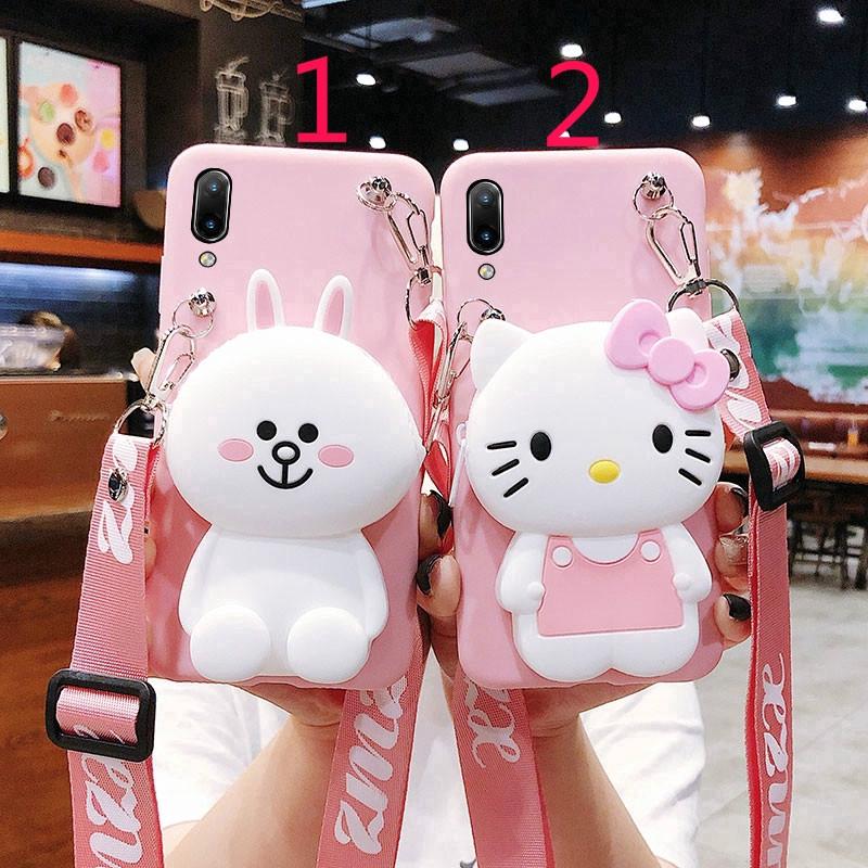 Samsung M10 A10 A20 A30 A40 A50 A60 A70 A80 A9 PRO A6 A9 2018 Cartoon Wallet Bunny Soft Phone Case เคสมือถื