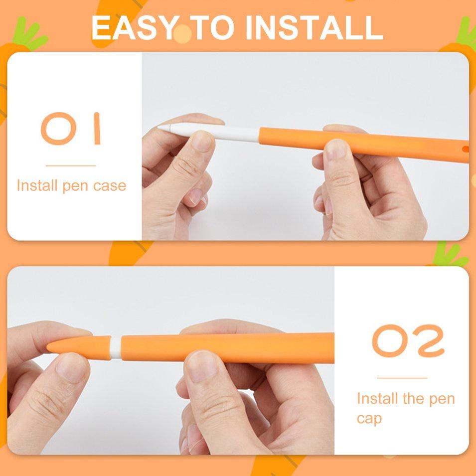 ❤Hot ฮอตเสื้อกระโปรงสินค้ายอดนิยม❤เคสซิลิโคนสําหรับ Apple Pencil 2nd Case Touch Stylus เคสป้องกัน