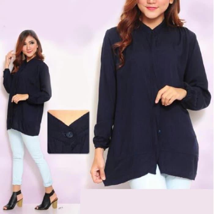 เสื้อเบลาส์เสื้อเบลาส์ Devy blouse / Tunic / ity crepe (Lona SW) สําหรับผู้หญิงสีน้ําเงิน 28NUZ