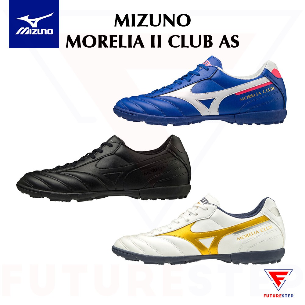 Originalรองเท้าฟุตบอลร้อยปุ่ม Mizuno Morelia II Club AS สำหรับหญ้าเทียม