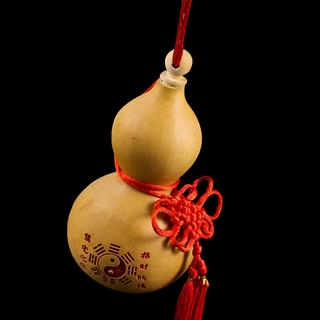 Natural Gourd Ornaments Tai Chi Yin And Yang Fengshui Gourd Bottle With Lid Hip Flask Craft Home Garden Hanging Decorati ราคาท ด ท ส ด