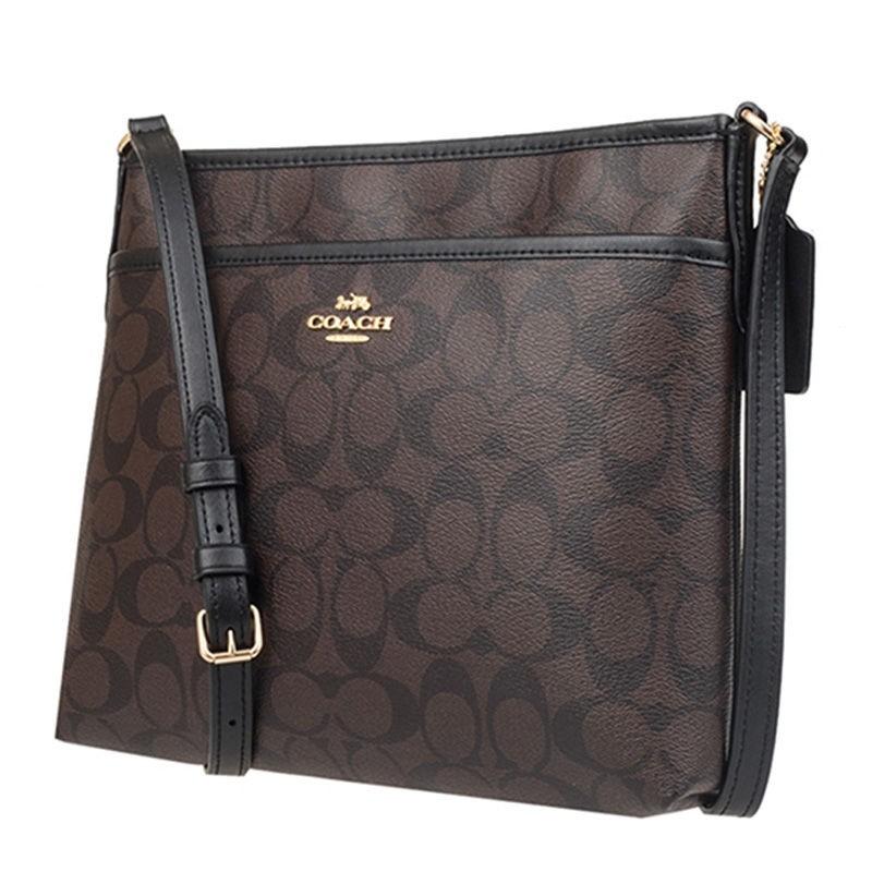 กระเป๋าสตางค์ใบสั้น﹊ของแท้ไดเร็กเมล Coach Coach ผู้หญิงคลาสสิกตัวอักษรสายตายาวสายตายาวกระเป๋าสะพายข้างเดียวแฟชั่นลำลองกร