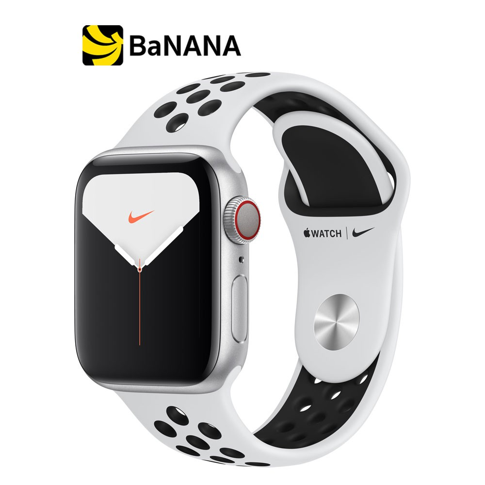 Apple Watch Nike Series 5 GPS + Cellular Silver Aluminium Case with Pure Platinum/Black Nike Sport Band