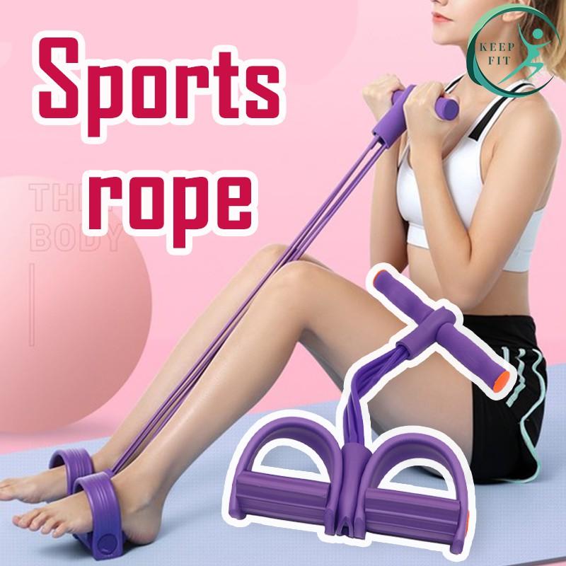 Pika Go ยางยืดออกกำลังกาย เชือกออกกำลังกาย เชือกดึง ยางยืดออกกำลังกาย แบบสายแรงต้าน 4 สายแรงต้าน เชือกดึงออกกำลังกาย พิล