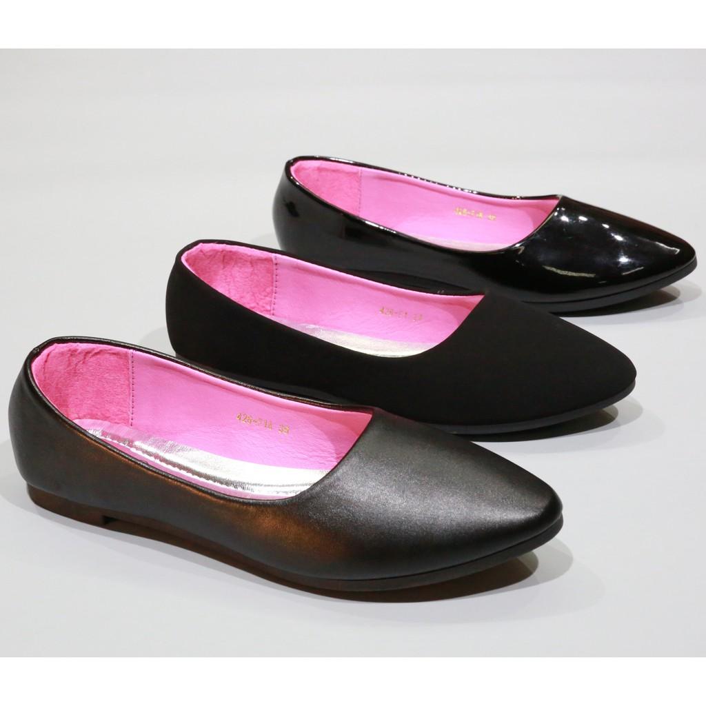 รองเท้า 426/F1,F1A,F1B รองเท้าคัชชูนักศึกษา รองเท้าคัชชูส้นแบน FAIRY