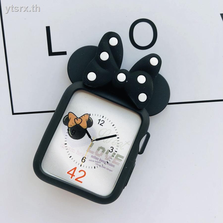 เคสซิลิโคนอ่อนนุ่มสำหรับเคสAirPods1/2 Case ซิลิโคนครอบใสฮาร์ด caseSuitable for applewatch5/6 protective case iwatch Apple watch cover 4/3 generation 2 electroplating all-inclusive anti-drop 40mm44/40 silicone 38series accessories tide creative cartoon pe