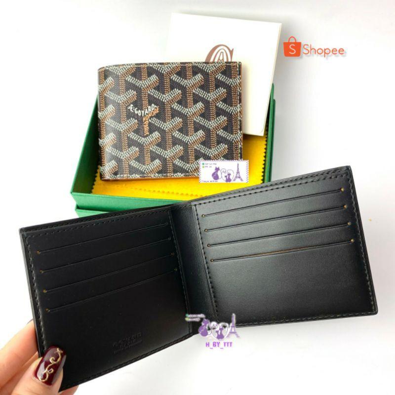 Goyard Men Wallet Victoire 8 cards In Black/Black ข้างในสีดำ กระเป๋าสตางต์ สีดำ 💕2021💕 ของแท้