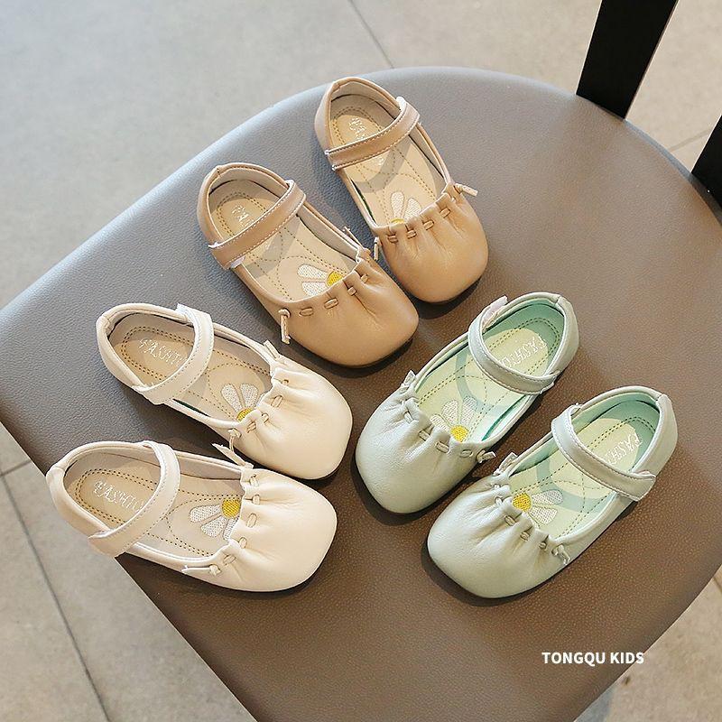 🔥เด็กผู้หญิงรองเท้าหนังเดซี่,ใหม่,เวอร์ชั่นเกาหลี,รองเท้าเจ้าหญิง,รองเท้าคัชชูหัวกลม,รองเท้าเด็ก