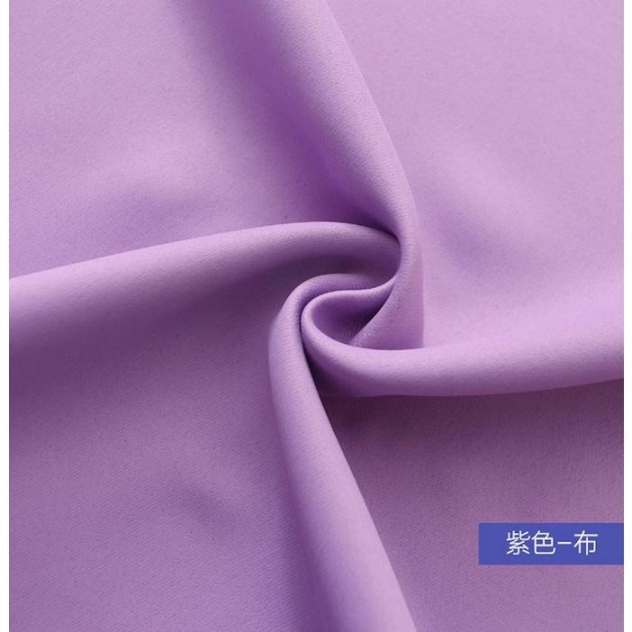 ผ้าม่านสำเร็จรูปฟรีเจาะ Velcro เส้นด้ายยุโรปลูกไม้ติดตั้งผ้าม่านห้องนอนห้องนั่งเล่นระเบียงลอย