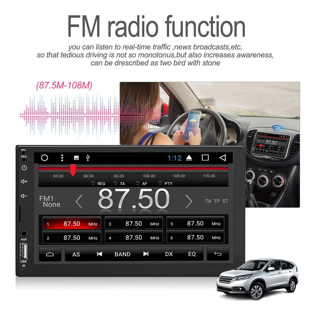 7in Bluetooth Car Player 2Din Touch Screen Car Radio Multimedia Video  Player Camera Set