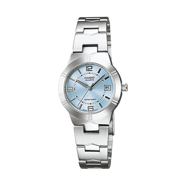 นาฬิกาข้อมือ นาฬิกาแฟชั่นCasio ผู้หญิง สีเงิน/ฟ้า สายสแตนเลส รุ่น LTP-1241D-2ADF,LTP-1241D-2 นาฬิกาข้อมือ(เลือกสีทักแชท)