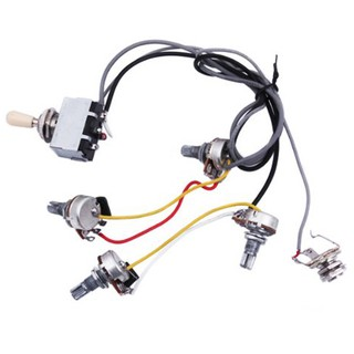 guitar wiring harness prewired 2 volumes 2 tones 4-500k pots for lp guitar  | shopee thailand