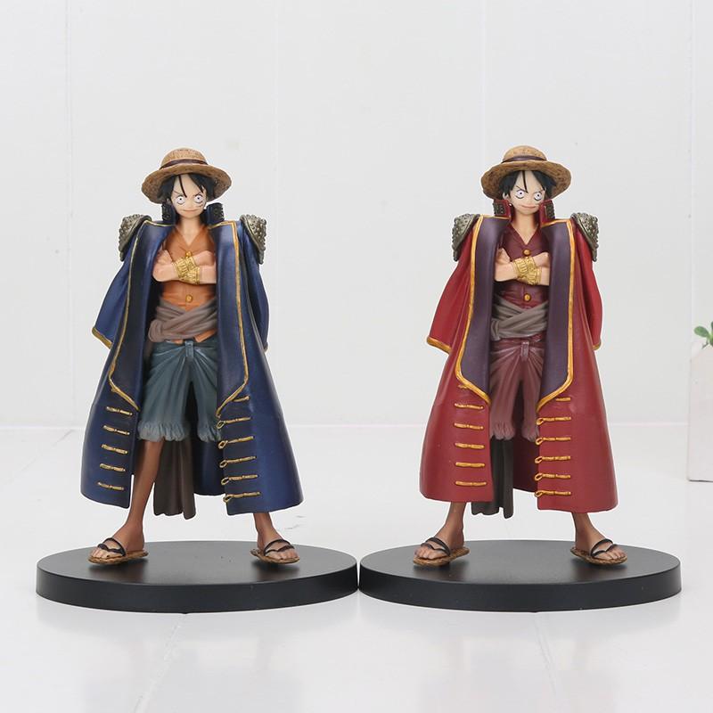 อะนิเมะ รูปอะนิเมะ 18cm Anime One Piece figure DXF one piece Buggy  luffy pvc Action Figure Toys