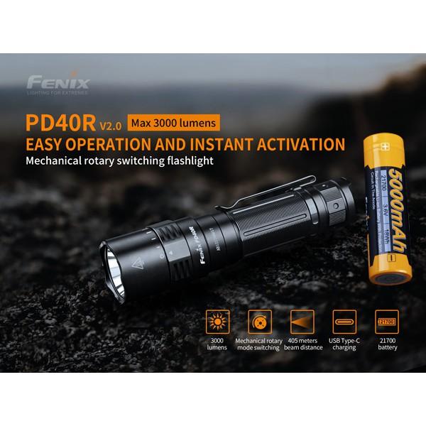 ไฟฉายแบรนด์Fenix  รุ่นPD40R V2.0