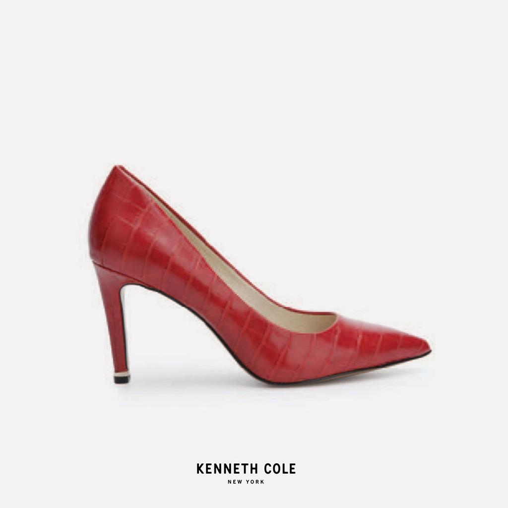 Kenneth Cole รองเท้าทำงานทรงคัชชูส้นสูง สีแดง หนังปั้มลาย