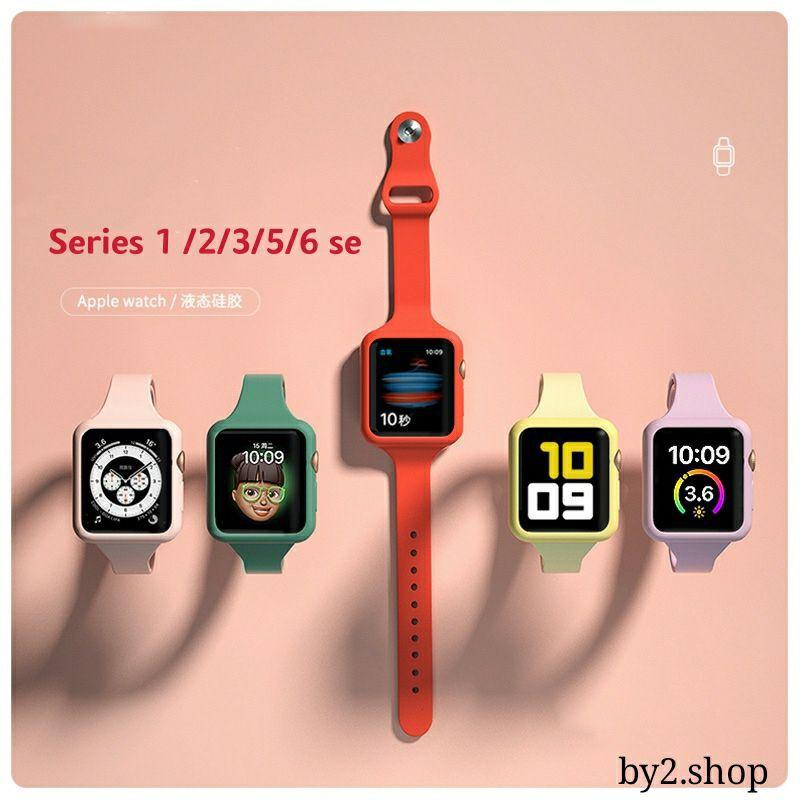 สาย applewatch 38/40mm 42/44mm สายซิลิโคนสำหรับ Apple Watch Band Series 6 5 4 3 2 1 ขนาด