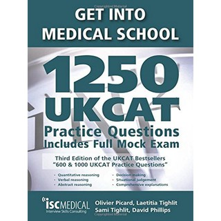 Asiabooks หนังสือ GET INTO MEDICAL SCHOOL: 1250 UKCAT PRACTICE QUESTIONS,  INCLUDES FULL MOCK EXAM