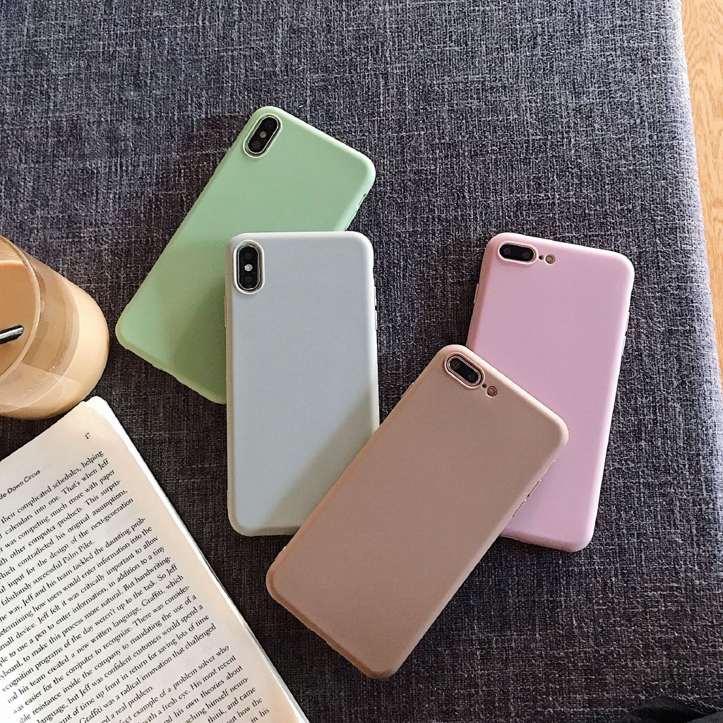 Pure color soft case for 8plus Apple X mobile phone case XS Max/xr/iphone 7p/6s silicone anti-falling case