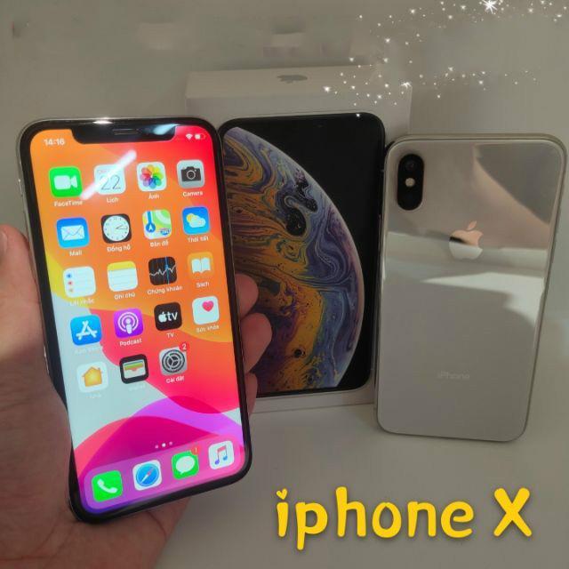 face id มือถือมือสอง Apple iphone x 64GB 256GB ไม่ล็อคซิม100% Original ขายถูกสุดส่งฟรีใช้แอพธนาคารได้