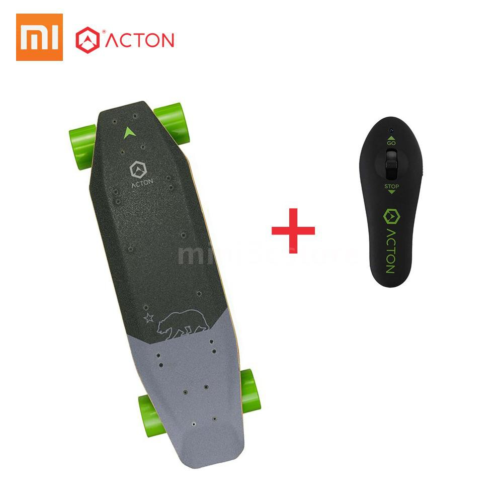 ACTON Blink S-R Intelligent Electric Skateboard Scooter 7 Miles Range LED Lighting Wireless Remote 3 Ride Modes Single Hub System